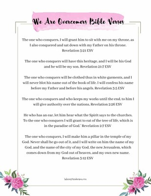 We Are Overcomers Bible Verses Printable