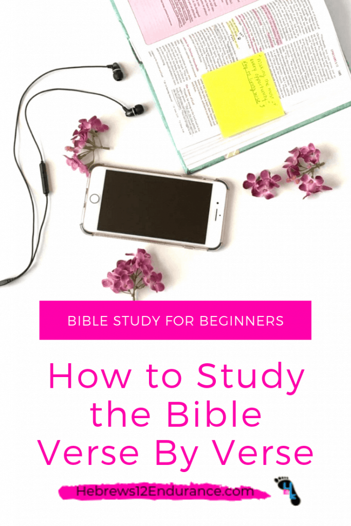 How to Study the Bible Verse By Verse