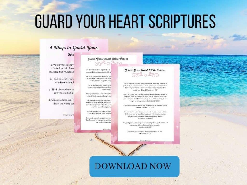 Guard Your Heart Bible Verses Printable
