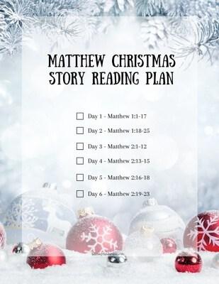 Matthew Christmas Story Reading Plan Printable