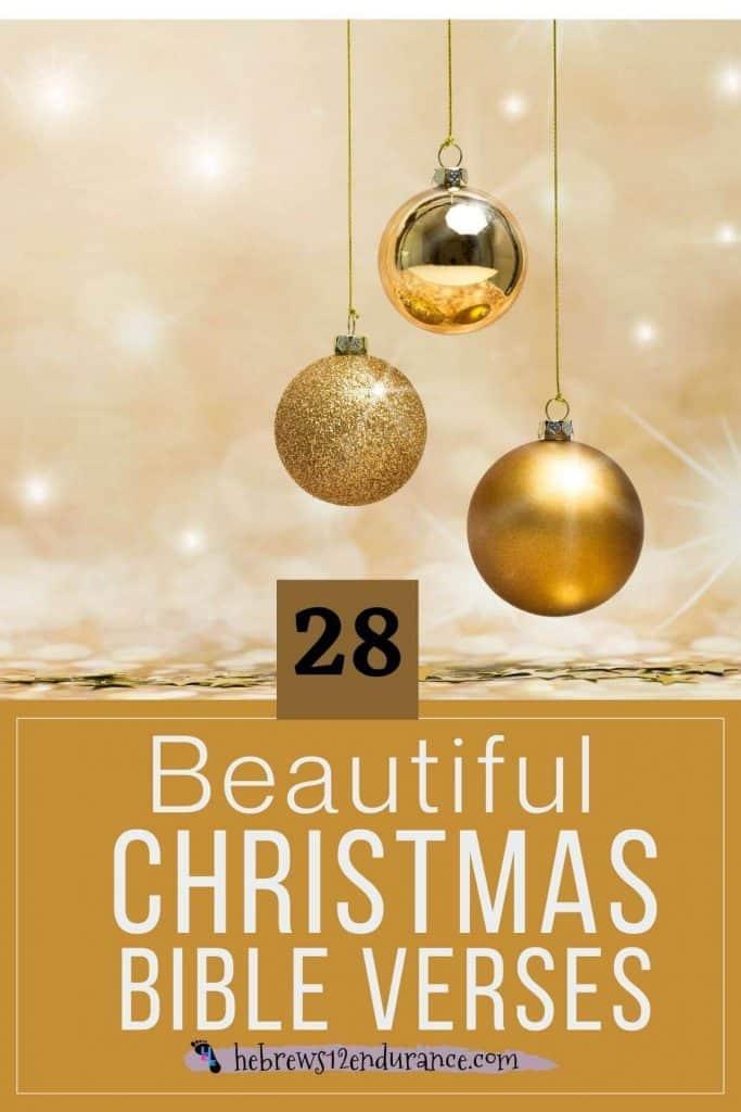 28 Beautiful Christmas Bible Verses